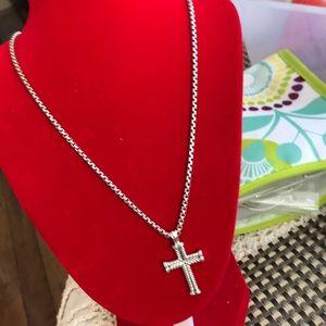 Authentic David Yurman Necklace w/Cross pendant